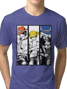 One Piece Brothers - colored hats Tri-blend T-Shirt