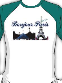 Beautiful architecture Luvoure museum ,Effel tower Paris france graphic art T-Shirt