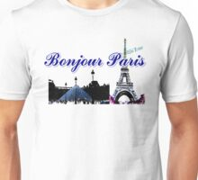 Beautiful architecture Luvoure museum ,Effel tower Paris france graphic art Unisex T-Shirt