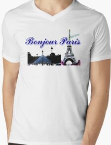 Beautiful  Luvoure museum ,Effel tower Paris france graphic art Mens V-Neck T-Shirt