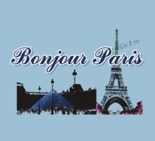 Beautiful Effel tower& Luvoure museum Paris france graphic art Kids Tee