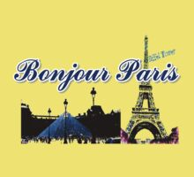Beautiful Effel tower& Luvoure museum Paris france graphic art Baby Tee