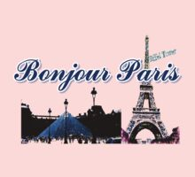 Beautiful Effel tower& Luvoure museum Paris france graphic art Kids Clothes