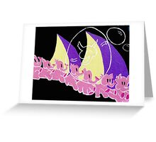Here They Come Greeting Card