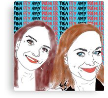 Tina Fey & Amy Poehler  Canvas Print