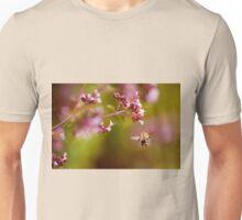 Flying bumblebee taking nectar Unisex T-Shirt