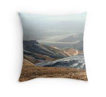 Rainbow mountain of Landmannalaugar Throw Pillow