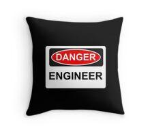 Danger Engineer - Warning Sign Throw Pillow