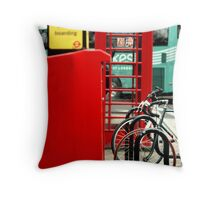 London red phone booth Throw Pillow