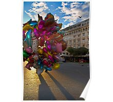 BALLOONS COLORFUL CITY SQUARE PLAZA Poster