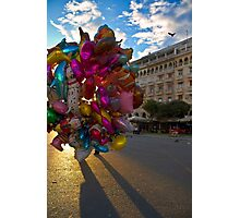 BALLOONS COLORFUL CITY SQUARE PLAZA Photographic Print