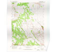 USGS Topo Map Oregon Collins Rim 279404 1968 24000 Poster