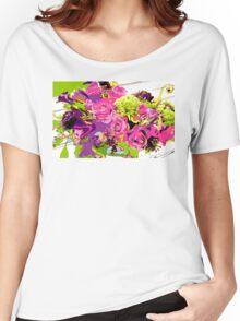 Flower Pop Women's Relaxed Fit T-Shirt