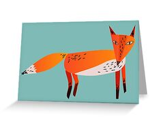 Fox Lonely Greeting Card