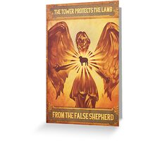 BioShock Infinite – The Tower Protects the Lamb from the False Shepherd Poster Greeting Card
