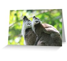 Two minds one thought Greeting Card