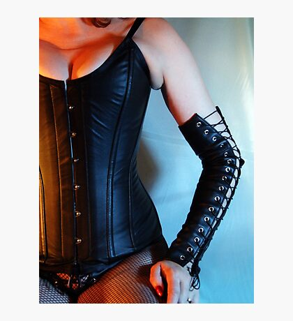 Leather Corset Photographic Print