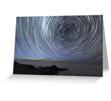 Flinders Star Trails: Ring Effect Greeting Card