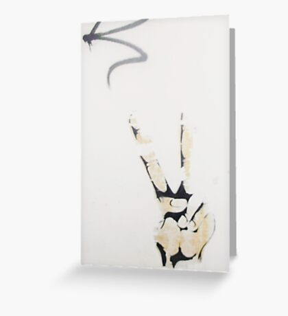 Peace Sign - Urban Art Greeting Card