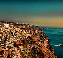 Greece. Santorini. The town of Fira (Phira, Thira). by vadim19