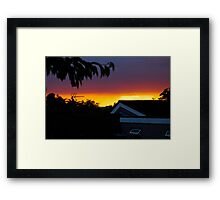 Perfect sunset Framed Print