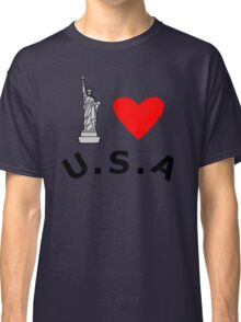 I Heart United States of America Classic T-Shirt