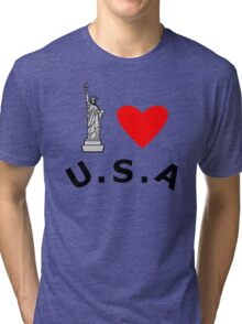 I Heart United States of America Tri-blend T-Shirt