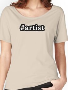 Artist - Hashtag - Black & White Women's Relaxed Fit T-Shirt