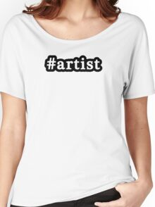 Artist - Hashtag - Black & White Women's Relaxed Fit T-Shirt