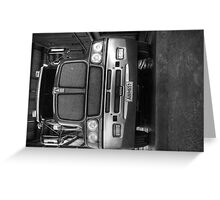 Front on view of Kenworth truck... Greeting Card