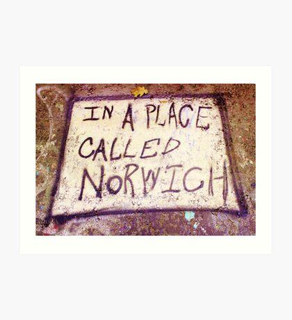 Norwich, England - Urban Art Art Print