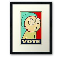 """Rick and Morty """"Vote for Morty"""" Framed Print"""
