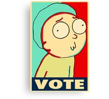 "Rick and Morty ""Vote for Morty"" Canvas Print"