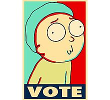 "Rick and Morty ""Vote for Morty"" Photographic Print"