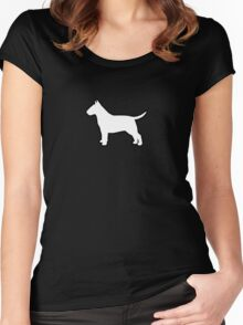 Bull Terrier Silhouette(s) Women's Fitted Scoop T-Shirt