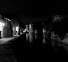 Bridge and Canal Bruges Belgium by MikeAndrew