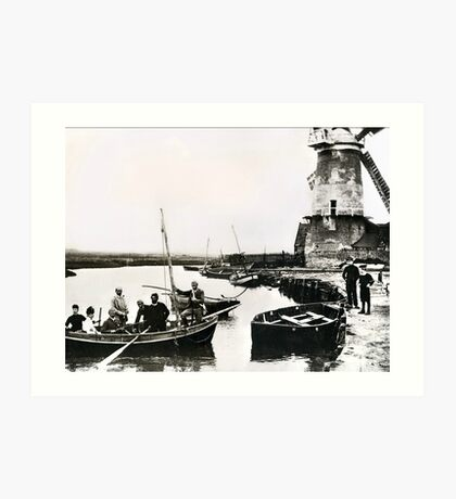 Cley windmill - the shooting party 1888 Art Print