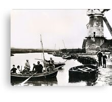 Cley windmill - the shooting party 1888 Canvas Print
