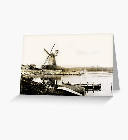 Cley Windmill marsh tide 1900 Greeting Card
