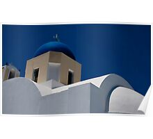 Blue Domes  Poster