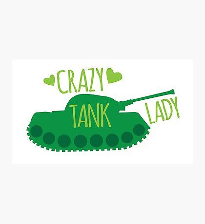 Crazy Tank Lady Photographic Print