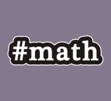 Math - Hashtag - Black & White Kids Tee