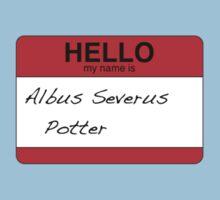 HELLO my name is...Albus Severus Potter! Kids Clothes
