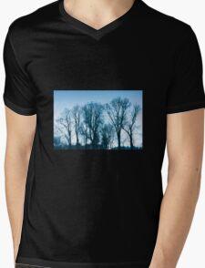 Blue trees sadness Mens V-Neck T-Shirt