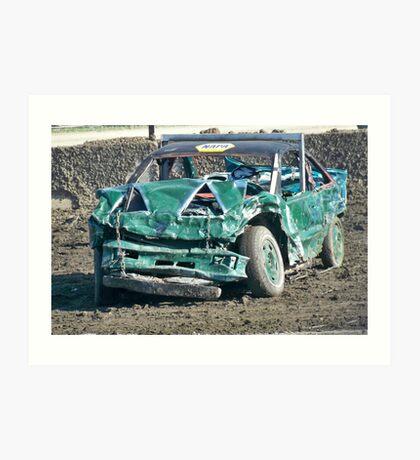 Demolition Derby Car Art Print
