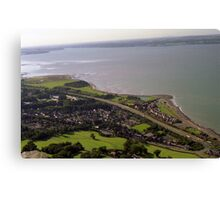 Llanfairfechan from high. Canvas Print