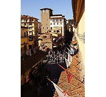 Looking Down at the Ponte Vecchio Photographic Print