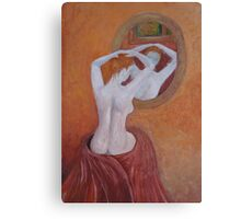 Woman in mirror Canvas Print