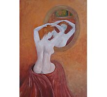 Woman in mirror Photographic Print