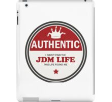 Authentic jdm life found me badge - red iPad Case/Skin